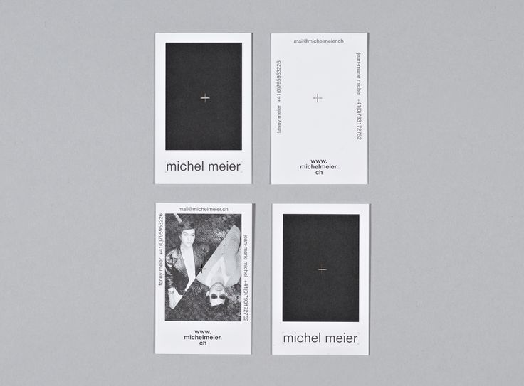 Michel Meier - Business cards - A3 studio