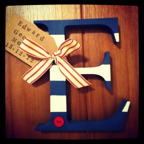 Alphabet Letters - Hand Painted, Decorated and Personalised in Wales! £9.50