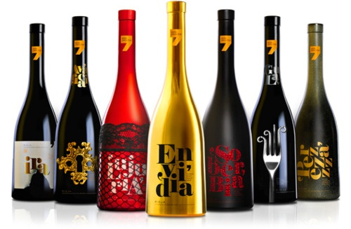 Siete Pecados: Seven Deadly Sins: Wine, Seven Deadly Sins, Wine Packaging, Capitals Sins, Wine Labels, Packaging Design, Bottle, Sins Wine