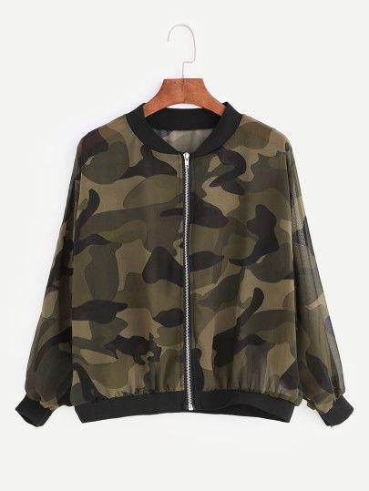 Jacket camuflage gasa -verde militar