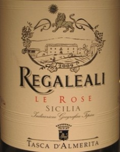 Regaleali Rose by Tasca d'Almerita of Sicily: a dry, crisp, lightly spicy yet fruity - goes well with smoked salmon and spicy seafood.