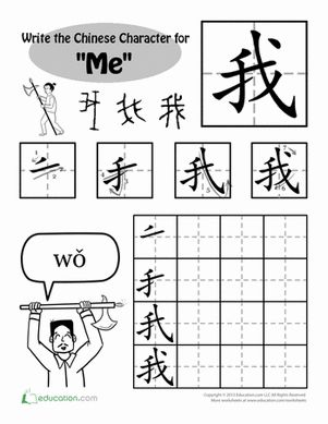 Worksheet Chinese Writing Worksheets 1000 ideas about chinese characters on pinterest learn first grade handwriting drawing painting foreign language worksheets write in chinese