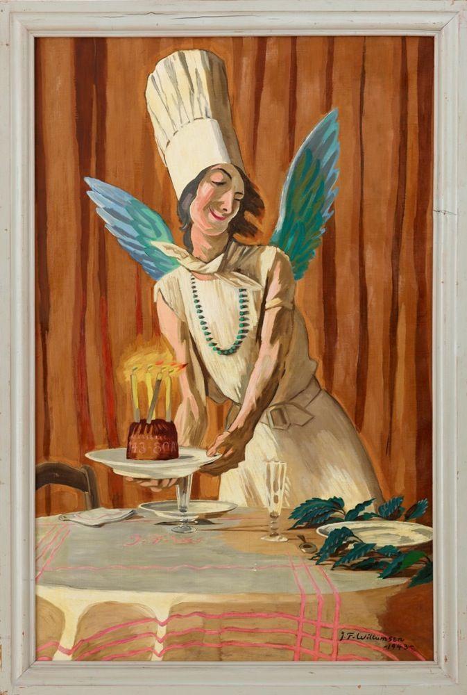 J. F. Willumsen, Fødselsdagskagen. En spøg, 1943.