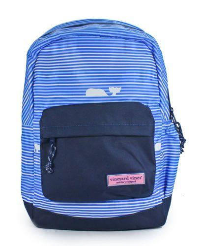 Vineyard Vines Blue Whale Backpack Spinnaker Bookbag Knapsack Bag New | eBay