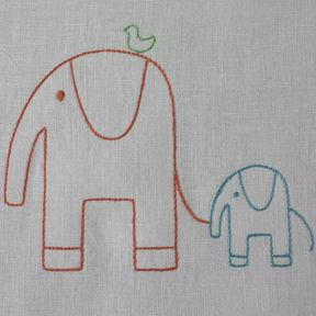 I want to embroider the little elephant onto...something