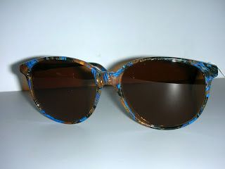 HOT COUTURE VINTAGE EYEWEAR : Alain Mikli Paris Blue/brown marble