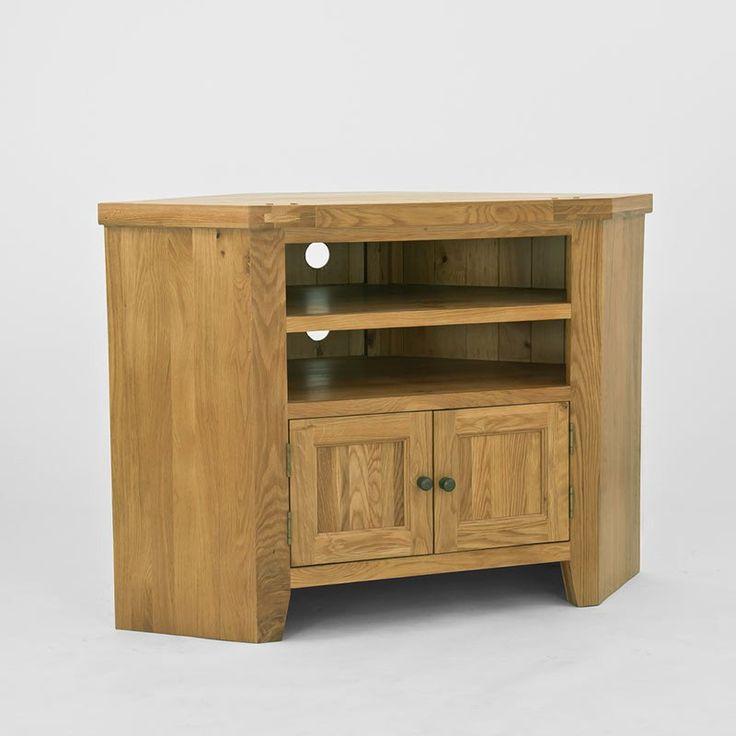 Elegance Solid Oak Corner TV Unit -  - TV Unit - Ametis - Space & Shape - 1