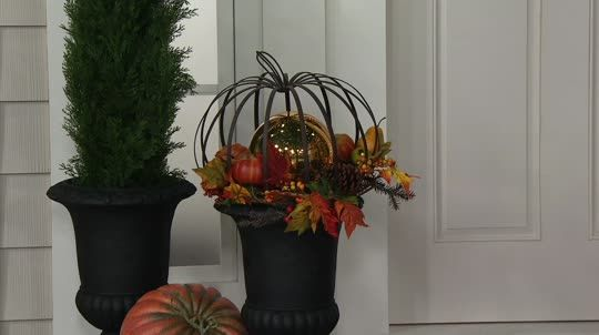 Varying your decor has never been so easy. This oversized metal pumpkin by Valerie Parr Hill is perfect for use as a planter or filled with seasonal…