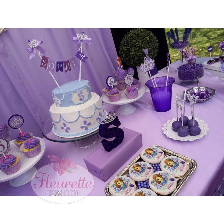 Pretty Purple Sofia The First Birthday Party See More Ideas At Catchmyparty