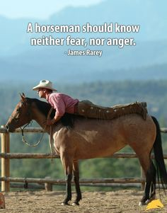 """A horseman should know neither fear, nor anger."" - James Rarey  Understanding horse behavior and being able to read your horse will prevent frustration and fear! Many people say they have stopped having bad horse days altogether since starting the Parelli Program. Learn more about horse behavior and Horsenality by clicking here: www.parelli.com/horsenality."