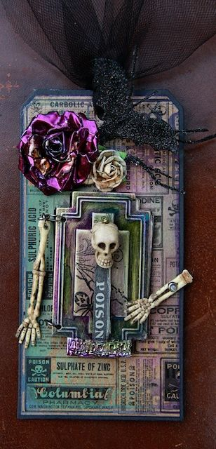 In My Own Imagination: A Halloween Tag Altered tag by janhobbins
