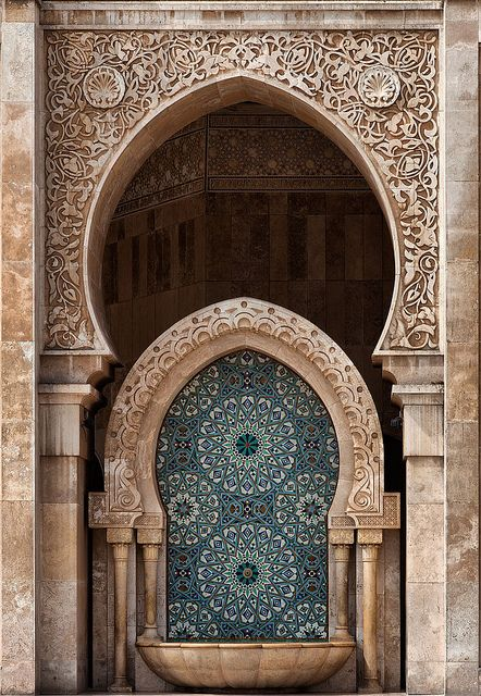 Hassan II Mosque, Casablanca, Morocco by Batistini Gaston, via Flickr