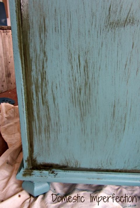 The Dirty Cowboy Treatment (distressing furniture with stain)