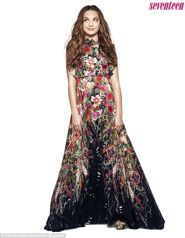 'I'm still just a teenager': Maddie Ziegler got glam in a festive floral gown for a new spread shot by Dani Brubaker and styled by James Worthington DeMolet