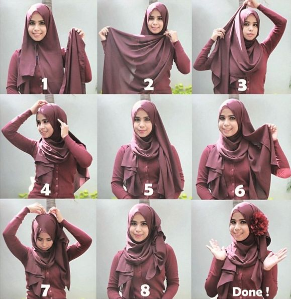hijab tutorial #queenova #dpcollection