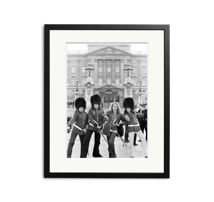 Van Halen in front of Buckinham Palace in military costume and bearskin hats Sonic Edition Prints