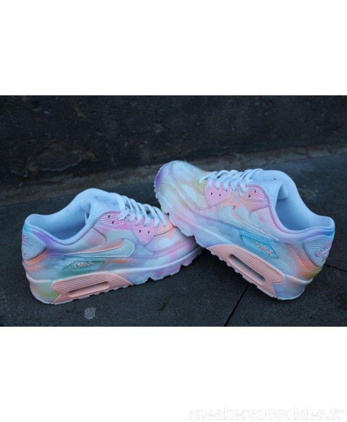 Vente Chaussures Personnalisé peint Nike Air Max 90 Nuageux pastell Dream  Art Style * UNIKAT *