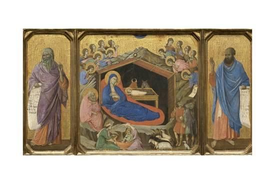 Nativity with the Prophets Isaiah and Ezekiel Giclee Print by Duccio di Buoninsegna at AllPosters.com