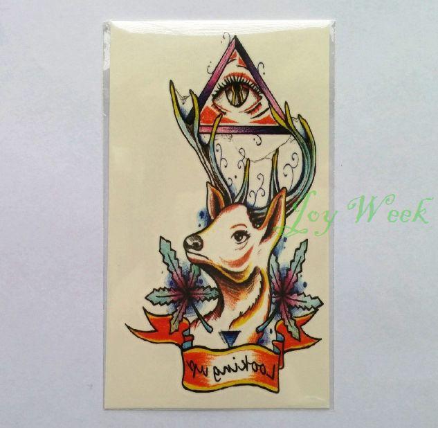 Купить Водонепроницаемый временные татуировки наклейки для женщин девушки бакс олень татуировки тотем переброска воды поддельные тату флэш татуировки для мужчини другие товары категории Временные татуировкив магазине Joy weekнаAliExpress. Временные татуировки