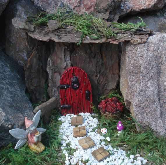 Fairy garden fairy garden kit fairy door by FairybehindtheDoor