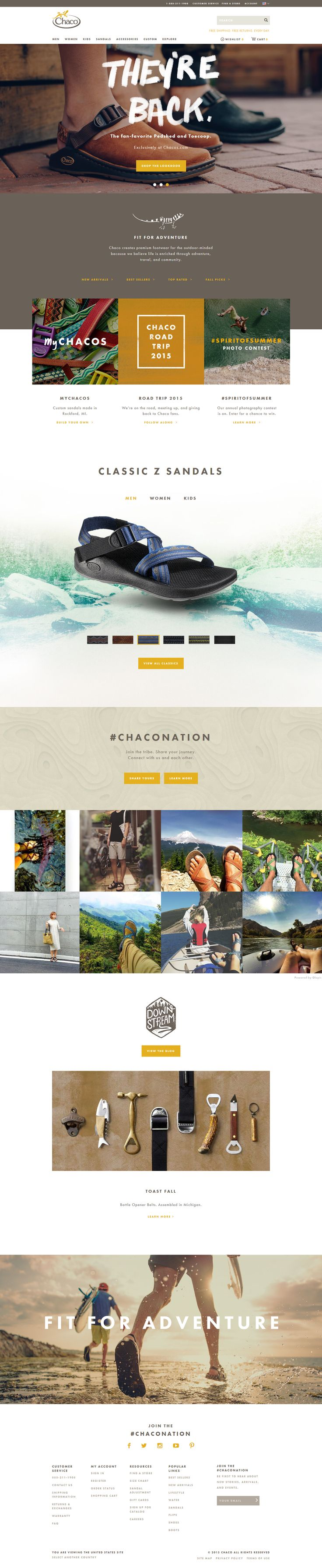 Chacos website