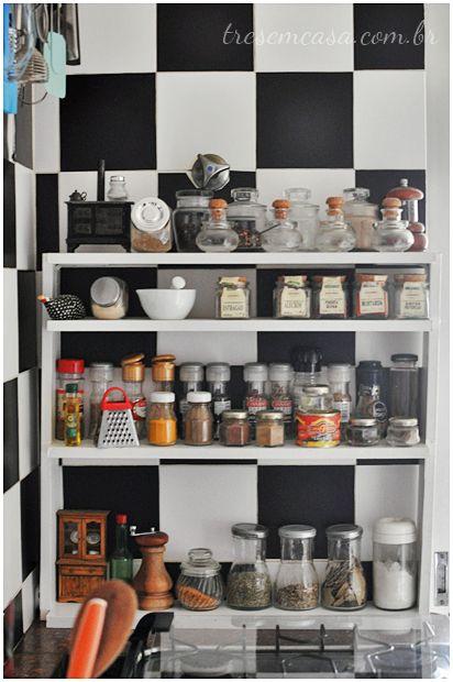 organizar temperos da cozinha