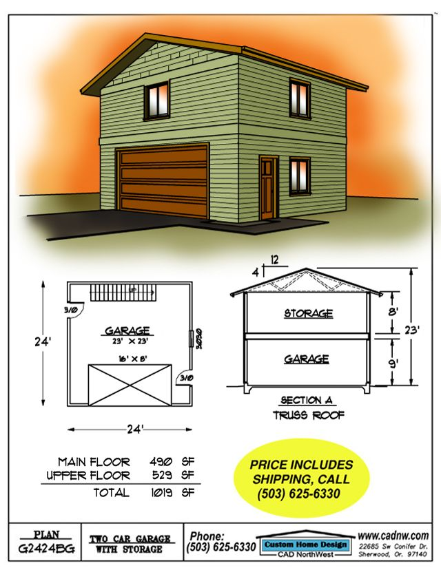 1000 ideas about two car garage on pinterest garage for Garage with upstairs