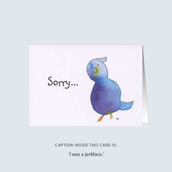 'jerkface' greeting card