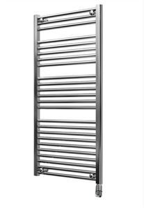 Show details for 500mm Wide 1150mm High Chrome Flat Pre-filled Electric Towel Rail  - Thermostatic