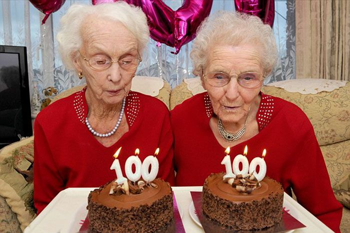 The amazing twin sisters just celebrated their 100th birthday at Lenchford Inn, a place where they do their lunch most Fridays.         Born on November 20th, 1916, Irene Crump and Phyllis Jones spent a 100 years together in Stourport,