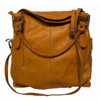Kit + Kaboodle Collection CARINA - Cognac Women's Leather Shoulder Bag Canada online at SHOP.CA