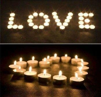 Regalos DIY para San Valentín - Espérale en casa con velas a modo de Mensaje de Amor