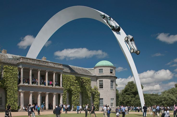 gerry judah arches mercedes-benz sculpture at goodwood festival of speed in england