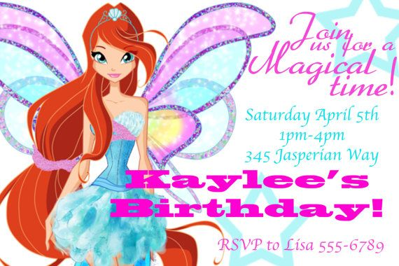Winx Club birthday party inspiration