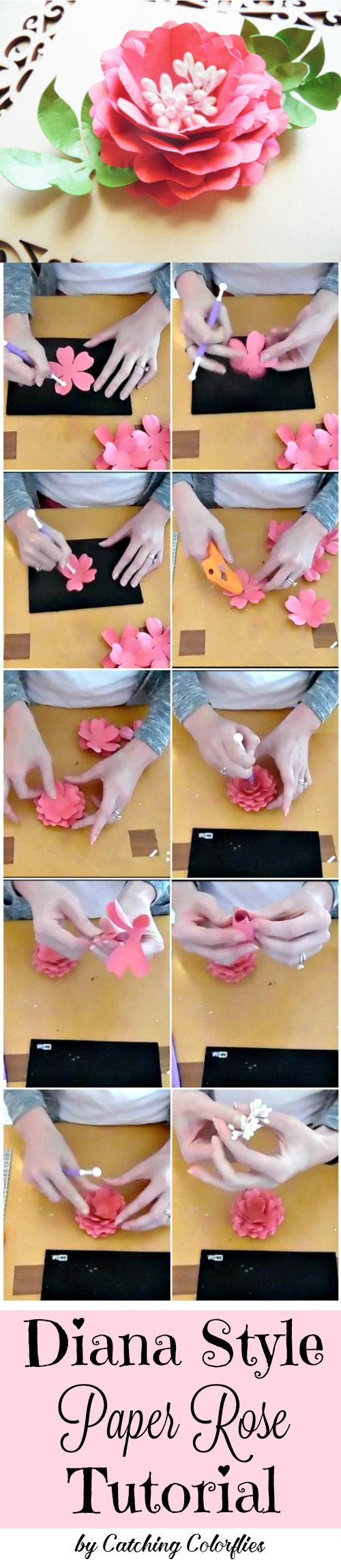How to make paper roses.  DIY Paper Rose Templates- Paper flower patterns- Instant download paper flower rose templates- SVG cut files