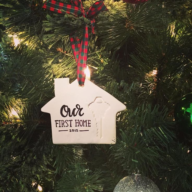 DIY first home ornament