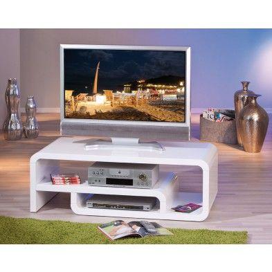 17 meilleures id es propos de meuble tv blanc laqu sur for Meuble tv ultra fin