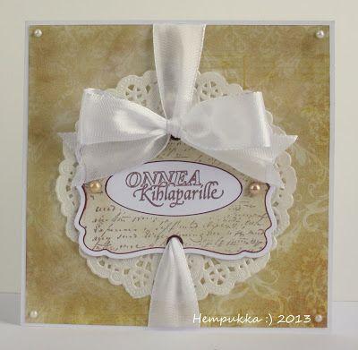 beige wedding card