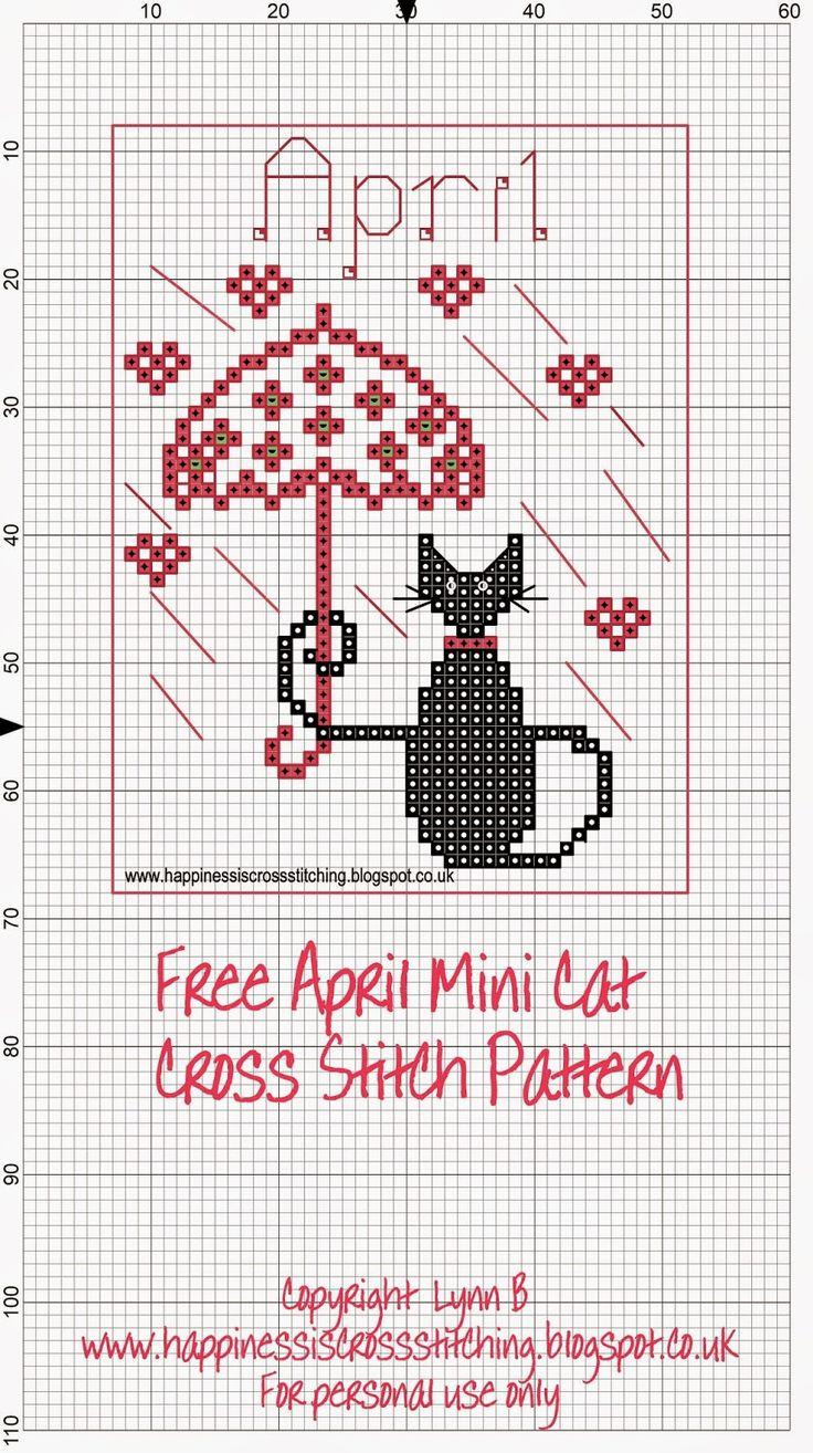 La felicidad es el punto de cruz: Mini Cross Stitch Gato regalos de promoción