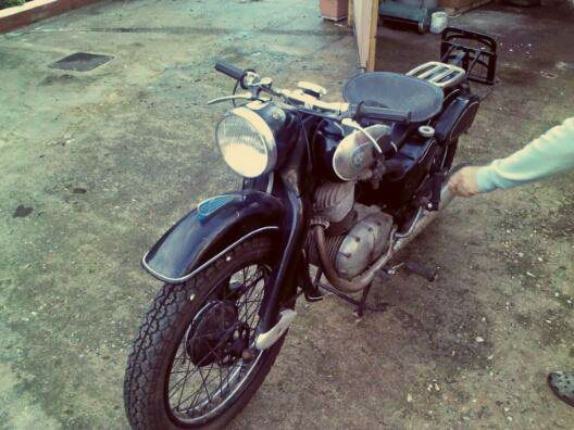 As it was after 20 years of  inactivity  #NSU #motorcycle #Restoration