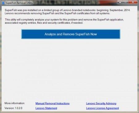 Ta bort Superfish från Lenovo-datorer! Gratis verktyg från Lenovo tar bort Superfish-adware om du har det förinstallerat på din Lenovo-dator.