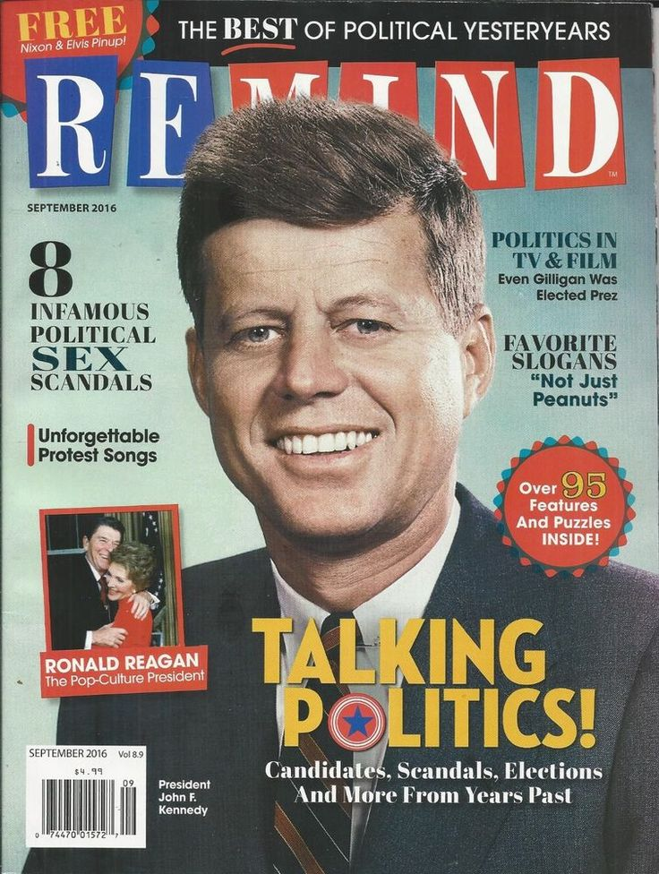 Remind magazine John F Kennedy Politics Ronald Reagan Scandals Elections Slogans