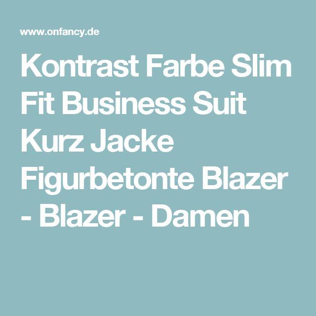 Kontrast Farbe Slim Fit Business Suit Kurz Jacke Figurbetonte Blazer - Blazer - Damen