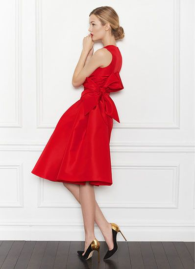 I never wear red dresses...but this one is beautiful!   carolina herrera prefall spring 2013