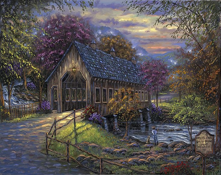 """""""Emert's Cove Covered Bridge ~ Sevierville, Tennessee"""" ~ by Robert Finale"""