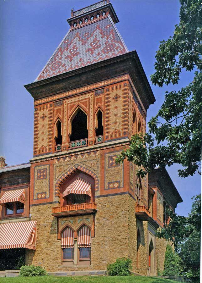 Mix of gothic & moorish is the house of artist Frederic Church, Olana NY