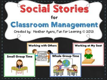16 best addadhd images on pinterest kids study disciplining social stories for classroom management fandeluxe Gallery