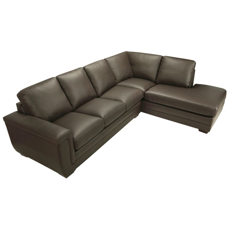 Porsche Chocolate Brown Italian Leather Sectional Sofa | Overstock.com Shopping - The Best Deals on Sectional Sofas