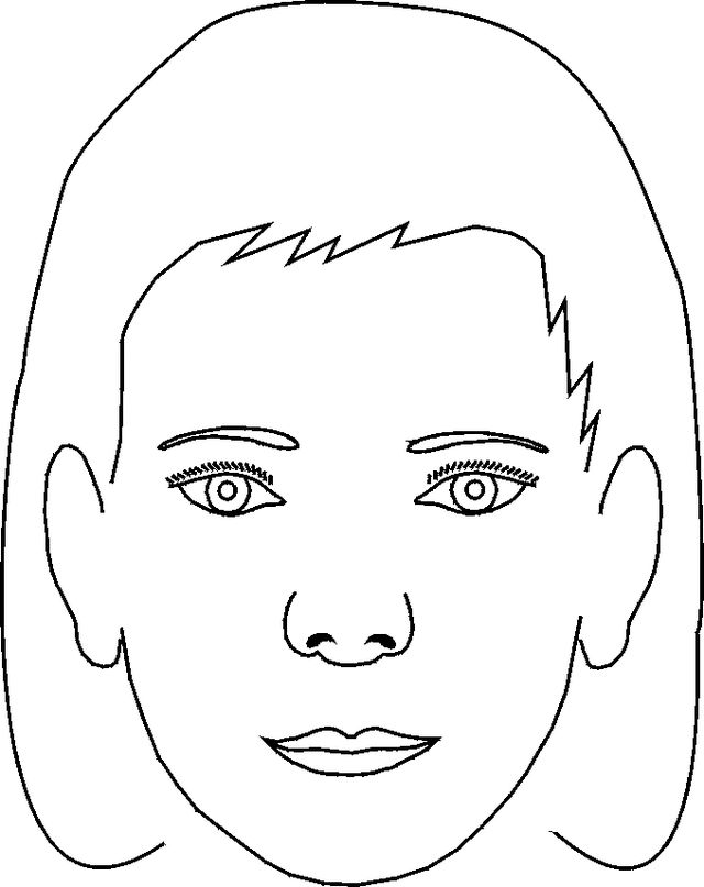 coloring book pages of childrens faces | 27 best Face Painting Templates images on Pinterest | Face ...