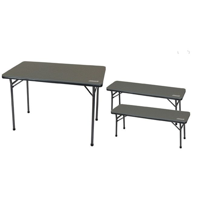 Coleman Folding Table & Bench 3P Set